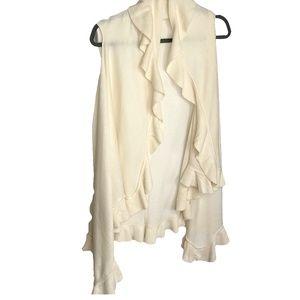 Anthropologie Ruffle Sleeveless Sweater